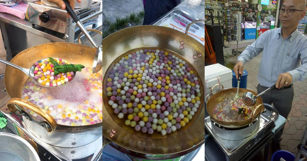 ขนมบัวลอยหลากสี น้ำกะทิหอมอร่อยขวัญใจ่ชาวบ่อสร้าง บัวลอยบ้านผู้การ