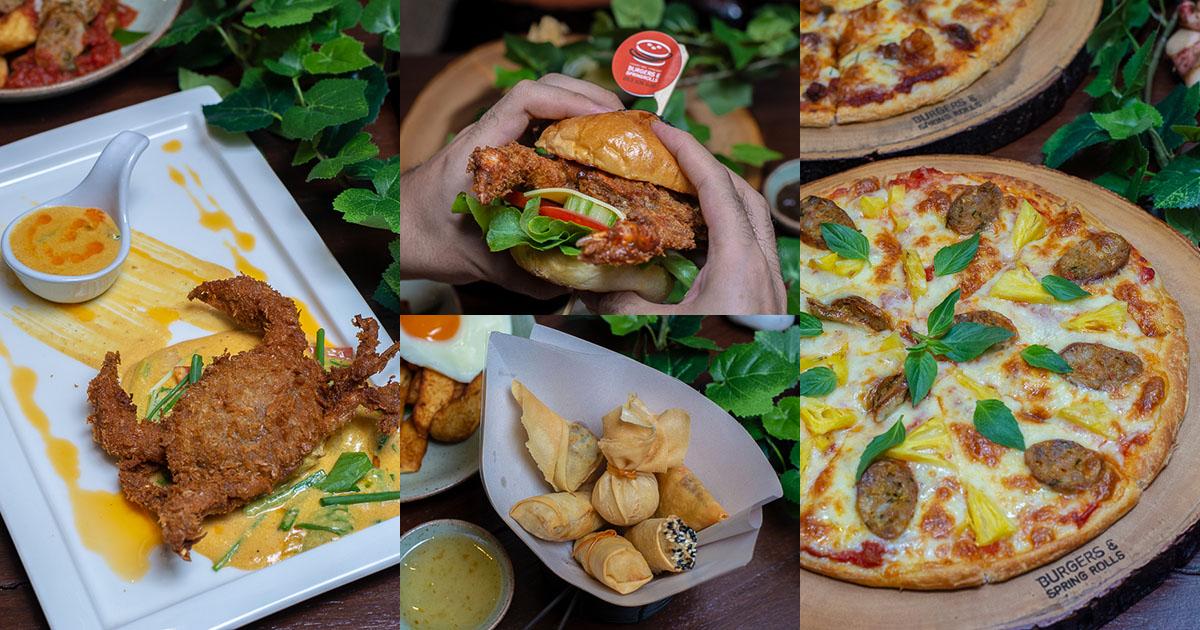 East meets West ความลงตัวที่มาผสมกันได้ดีระหว่างไทยและฝรั่ง ความอร่อยในแบบที่แปลกใหม่ที่ Burgers & Spring Rolls เชียงใหม่